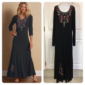 New! Soft Surroundings Embroidered Maxi